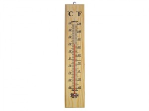 Thermometer Wall Wood 400mm