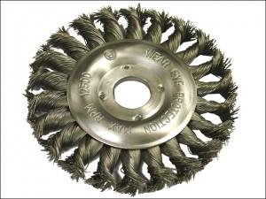 Circular Wire Brush 125 x 12mm 22.2mm Bore 0.50mm Wire