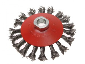 Conical Wire Brush 115mm x M14 x 2 0.50mm Wire