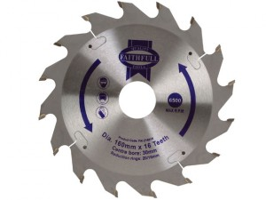 Circular Saw Blade 160 x 30mm x 16T Fast Rip