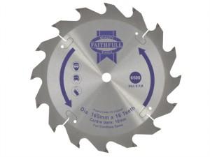 Trim Saw Blade 165 x 10mm x 16T Fast Rip