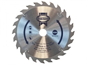 Trim Saw Blade 165mm x 20mm x 24T