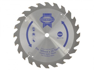 Trim Saw Blade 165 x 10mm x 24T Fast Rip