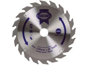 Circular Saw Blade TCT 230 x 30mm x 20T Fast Rip