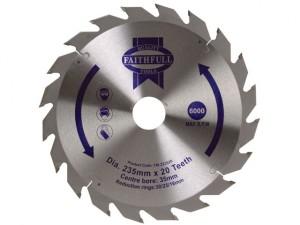 Circular Saw Blade TCT 235 x 16/20/30/35mm x 20T Fast Rip