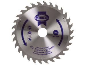 Circular Saw Blade TCT 235 x 35mm (16/25/30mm) x 30T General-Purpose