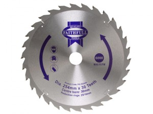 Circular Saw Blade 254 x 16/25/30mm x 30T General-Purpose