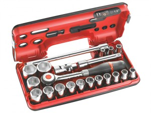 Metric Socket Set of 18 1/2in Drive