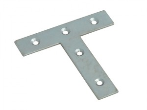 Tee Plates Zinc Plated 76mm Pack of 10
