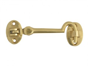 Cabin Hook Silent - Brass - 100mm (4in)