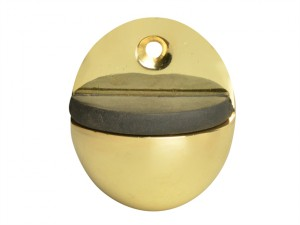 Oval Door Stop Brass Finish 40mm