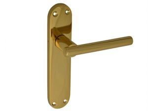 Backplate Handle Latch - Modular Brass Finish