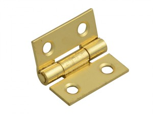 Butt Hinge Brass Finish 25mm (1in) Pack of 2