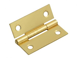 Butt Hinge Brass Finish 50mm (2in) Pack of 2