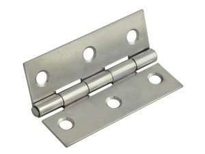 Butt Hinge Polished Chrome Finish 100mm (4in) Pack of 2