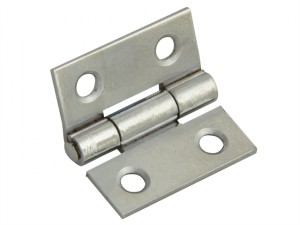 Butt Hinge Polished Chrome Finish 40mm (1.5in) Pack of 2
