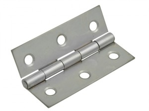 Butt Hinge Polished Chrome Finish 75mm (3in) Pack of 2