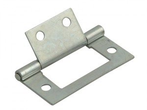 Flush Hinge Zinc Plated 50mm (2in) Pack of 2