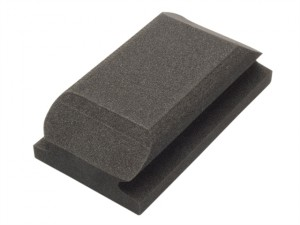 Hand Sanding Block Shaped Black 70 x 125mm