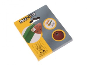 Delta Hook & Loop Sanding Sheets 94mm Medium 80g (Pack of 6)