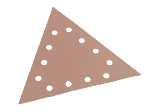 Sanding Paper Hook & Loop Triangle 100 Grit Pack 25