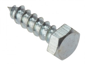 Coach Screw Hexagon Head Single Thread ZP M6 x 30mm Bag 10