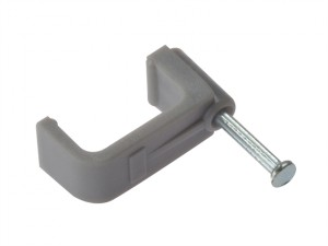 Cable Clip Flat Grey 10.00mm Box 100