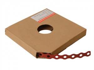 Red Plastic Coated Pre-Galvanised Band 17mm x 0.8 x 10m Box 1
