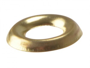 Screw Cup Washers Solid Brass Polished No.6 Bag 200
