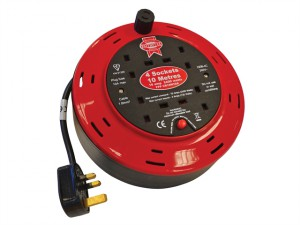 Cable Reel 240 Volt 10 Metre 10 Amp 4 Socket