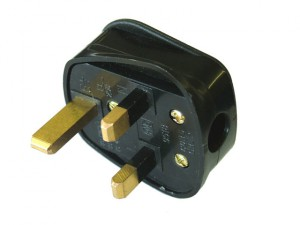Black Rubberised Plug 240 Volt 13 Amp