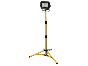 COB LED Single Tripod Site Light 20W 1400 Lumen 240V