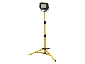 COB LED Single Tripod Site Light 1400 Lumen 20 Watt 110 Volt