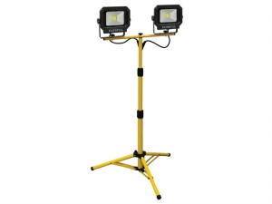COB LED Twin Tripod Site Light 2800 Lumen 40 Watt 240 Volt