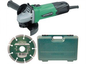G12SSCD 115mm Angle Grinder with Diamond Blade & Case 110 Volt