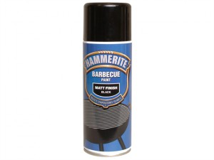 BBQ Paint Aerosol Black Matt 400ml