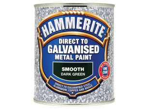 Direct To Galvanised Metal Paint Dark Green 750ml