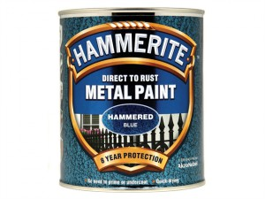 Direct to Rust Hammered Finish Metal Paint Blue 750ml