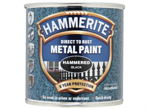 Direct to Rust Hammered Finish Metal Paint Black 250ml