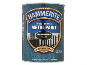Direct to Rust Hammered Finish Metal Paint Black 5 Litre