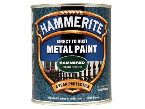 Direct to Rust Hammered Finish Metal Paint Dark Green 750ml
