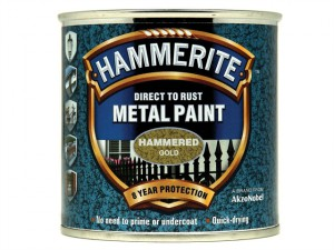 Direct to Rust Hammered Finish Metal Paint Gold 250ml