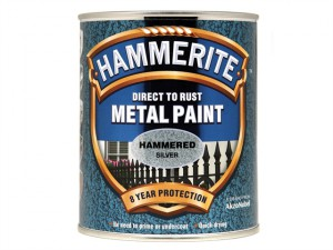 Direct to Rust Hammered Finish Metal Paint Silver 750ml
