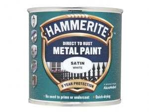 Direct to Rust Satin Finish Metal Paint White 250ml