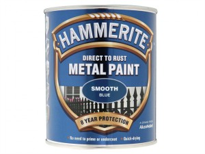 Direct to Rust Smooth Finish Metal Paint Blue 750ml