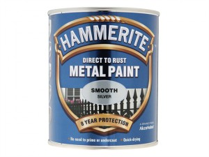 Direct to Rust Smooth Finish Metal Paint Silver 250ml