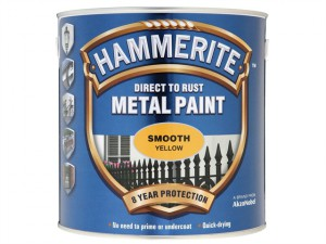 Direct to Rust Smooth Finish Metal Paint Yellow 2.5 Litre