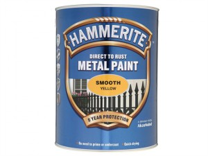 Direct to Rust Smooth Finish Metal Paint Yellow 5 Litre
