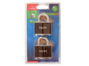 35T Stronglock Card (2) Padlocks 38mm Open Shackle Keyed