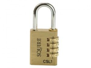 CSL1 Brass Combination Padlock 40mm